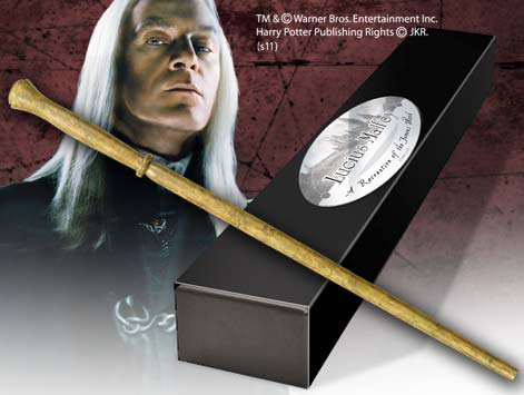 Harry Potter Wand Lucius Malfoy (Character-Edition) --- DAMAGED PACKAGING