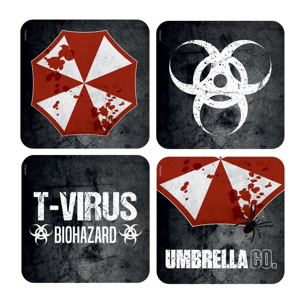 Resident Evil Lenticular Coaster 4-Pack Umbrella