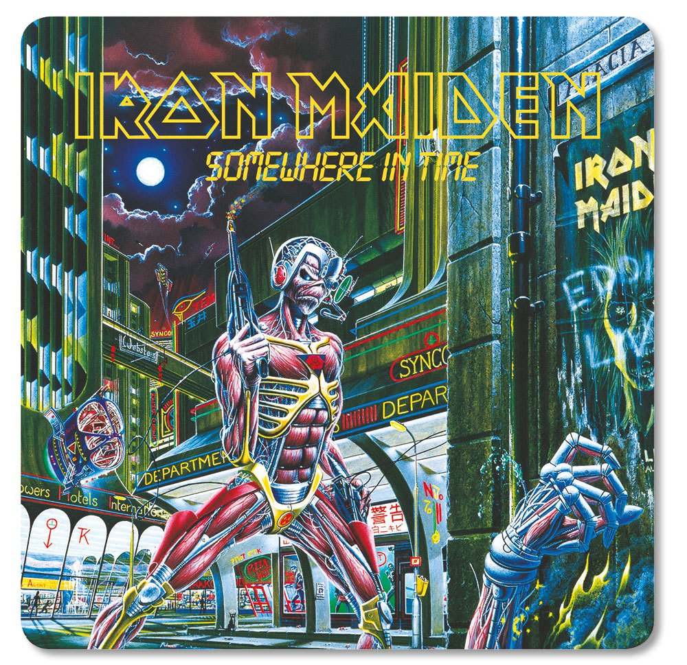 Iron Maiden Coaster Pack Somewhere in Time (6)