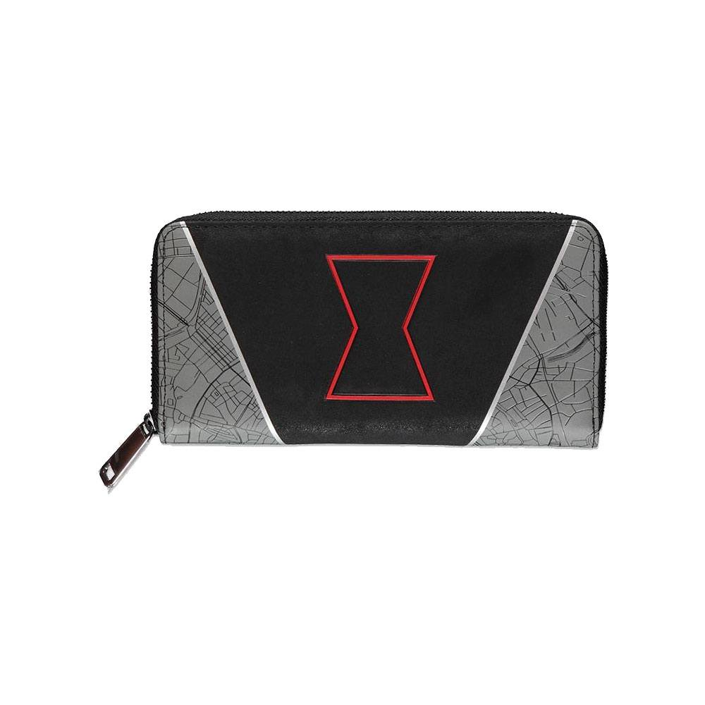Black Widow Zip Around Wallet Hourglass