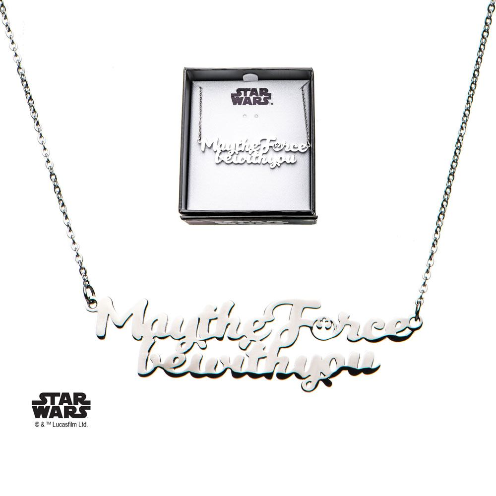 Star Wars Stainless Steel Pendant with Chain May the Force be with You