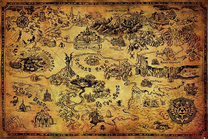 Legend of Zelda Poster Pack Hyrule Map 61 x 91 cm (5)