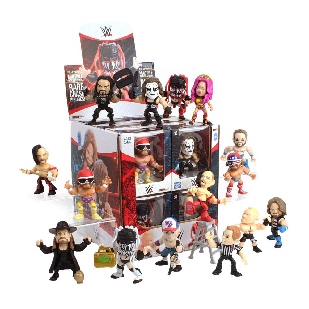 WWE Action Vinyls Mini Figures 8 cm Wave 1 Display (12)