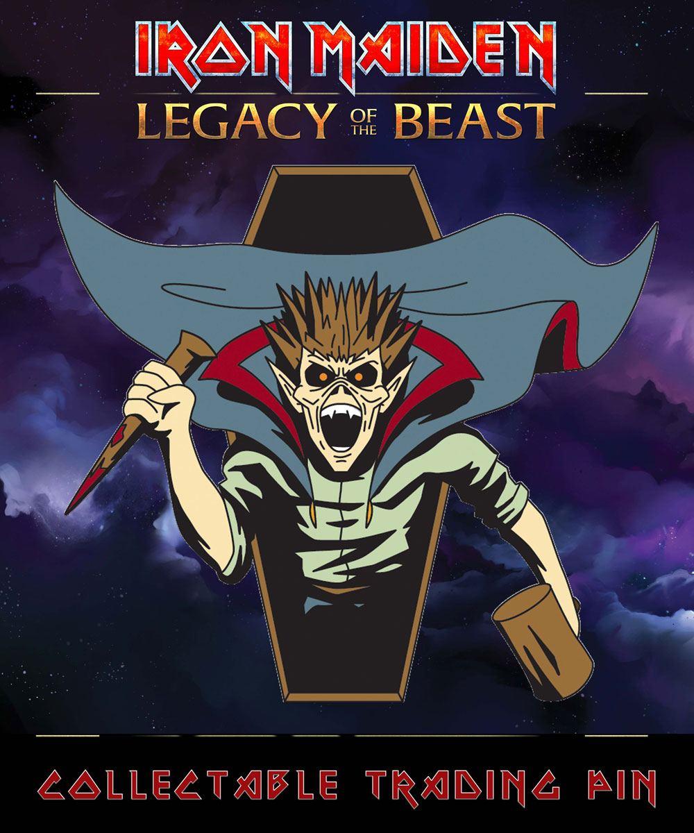Iron Maiden Legacy of the Beast Pin Badge Vampire Hunter Eddie