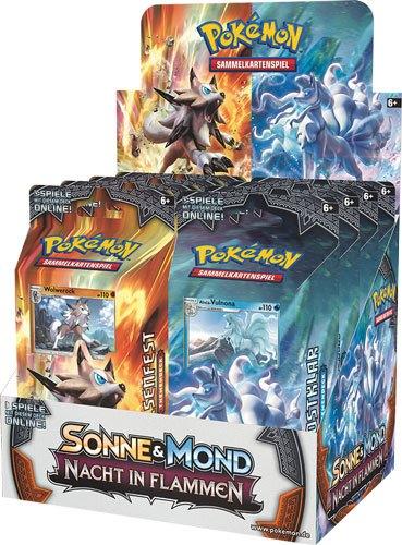Pokemon Sonne und Mond 3 Nacht in Flammen Theme Deck Display (8) german