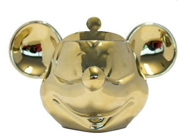 Mickey Mouse Deluxe 3D Cookie Jar Gold