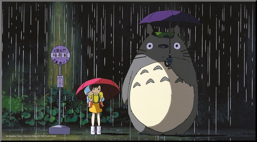 My Neighbor Totoro Wooden Wall Art Bus Stop