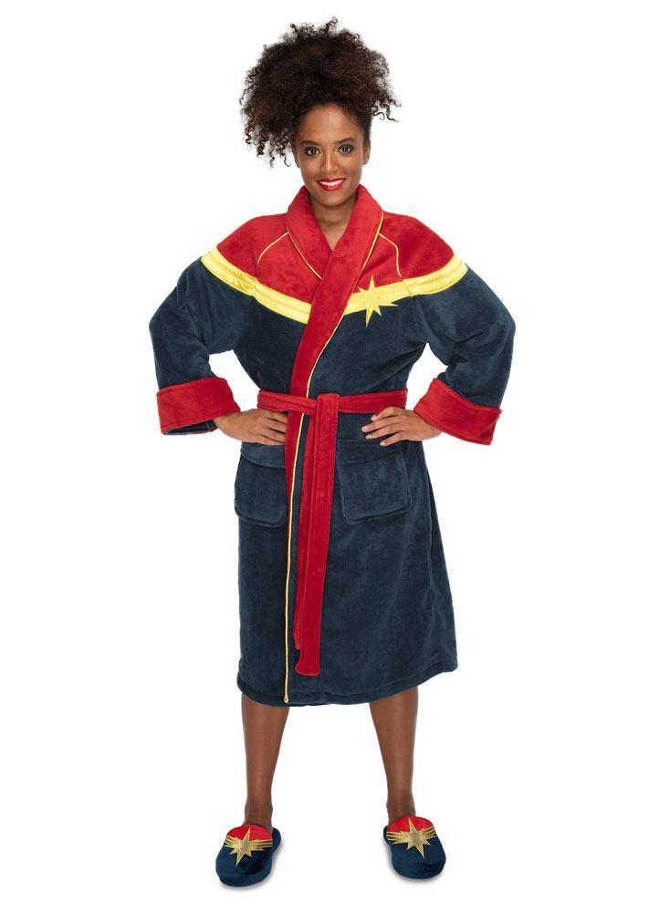 Captain Marvel Ladies Fleece Bathrobe Captain Marvel