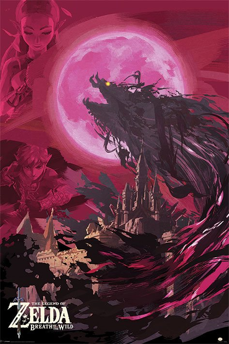 Legend of Zelda: Breath of the Wild Poster Pack Ganon Blood Moon 61 x 91 cm (5)