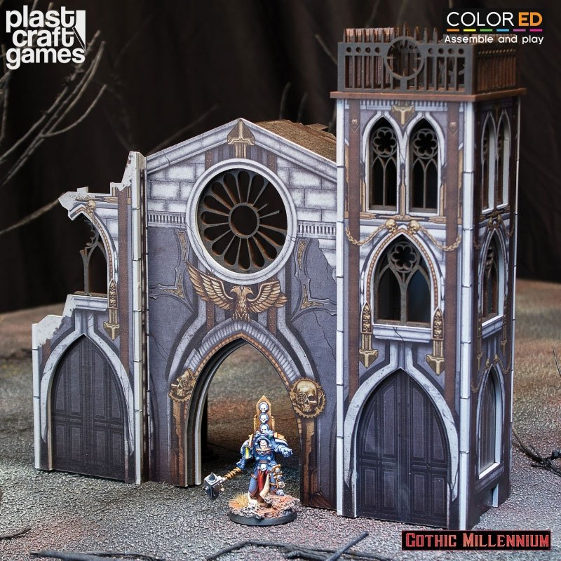 Gothic Millennium ColorED Miniature Gaming Model Kit 28 mm Portico of Penance
