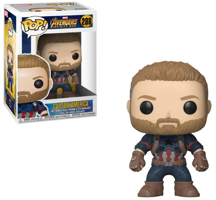 Avengers Infinity War POP! Movies Vinyl Figure Captain America 9 cm