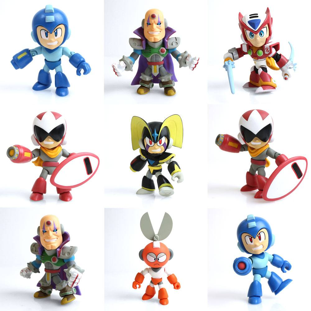 Mega Man Action Vinyl Mini Figures 8 cm GE Display (12)