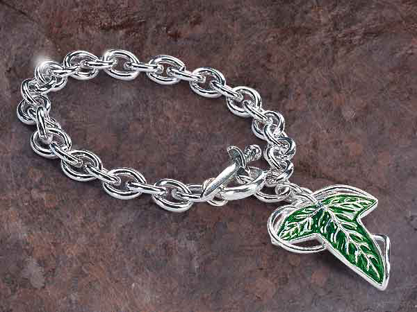 Lord of the Rings Charm Bracelet Elven Brooch (Sterling Silver)