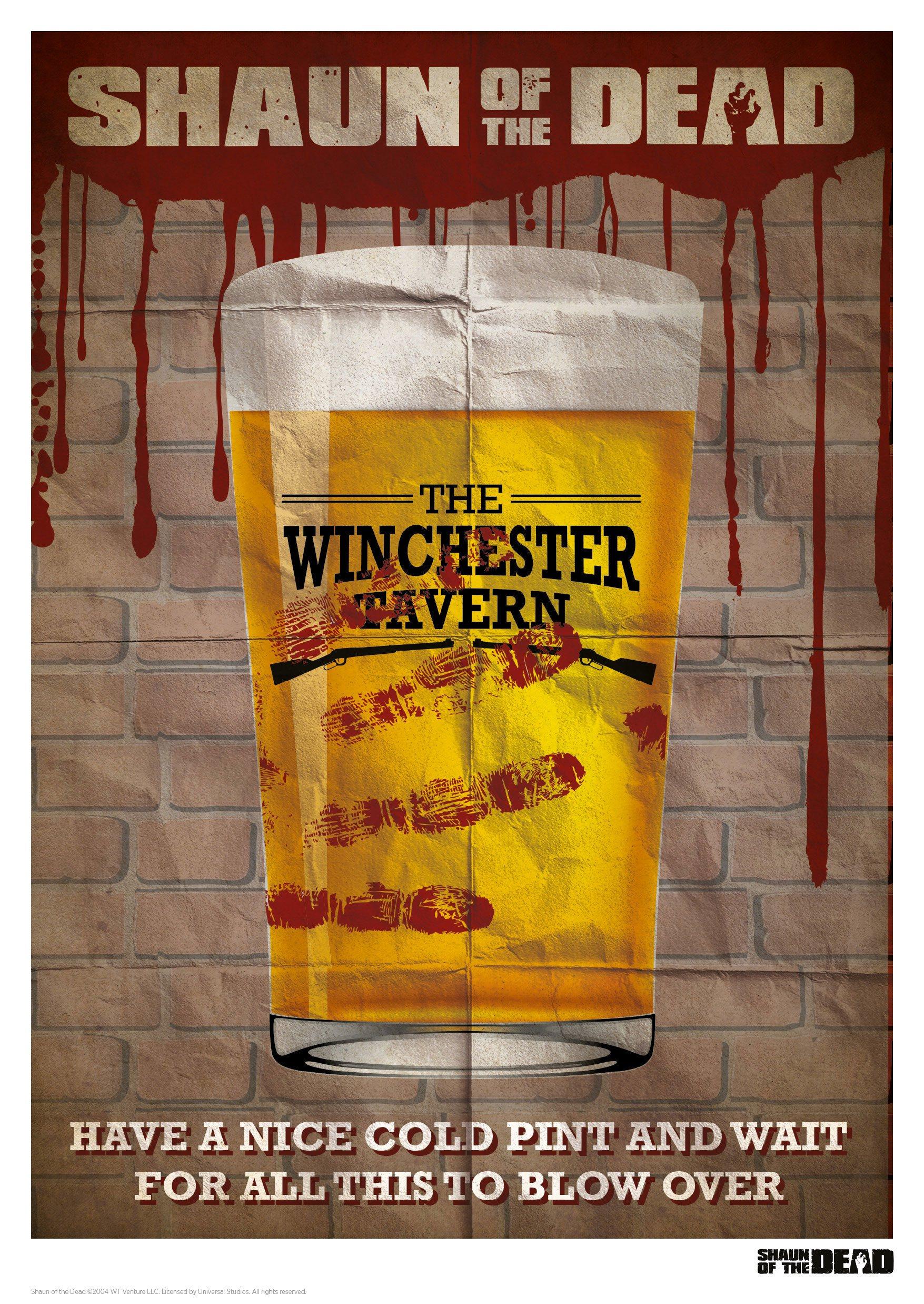 Shaun of the Dead Art Print Winchester Tavern 42 x 30 cm