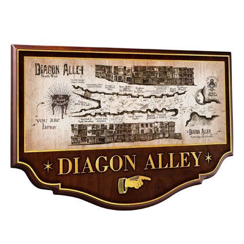 Harry Potter Wall Plaque Diagon Alley 43 x 28 cm