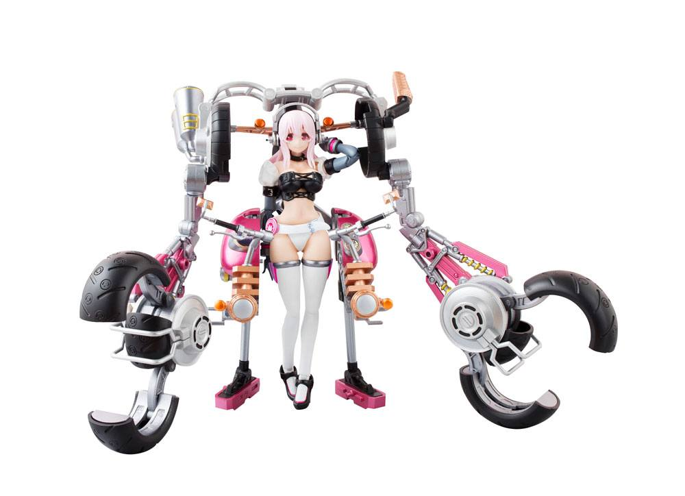 Nitro Super Sonic AGP Action Figure Super Sonico with Super Bike Robo 14 cm