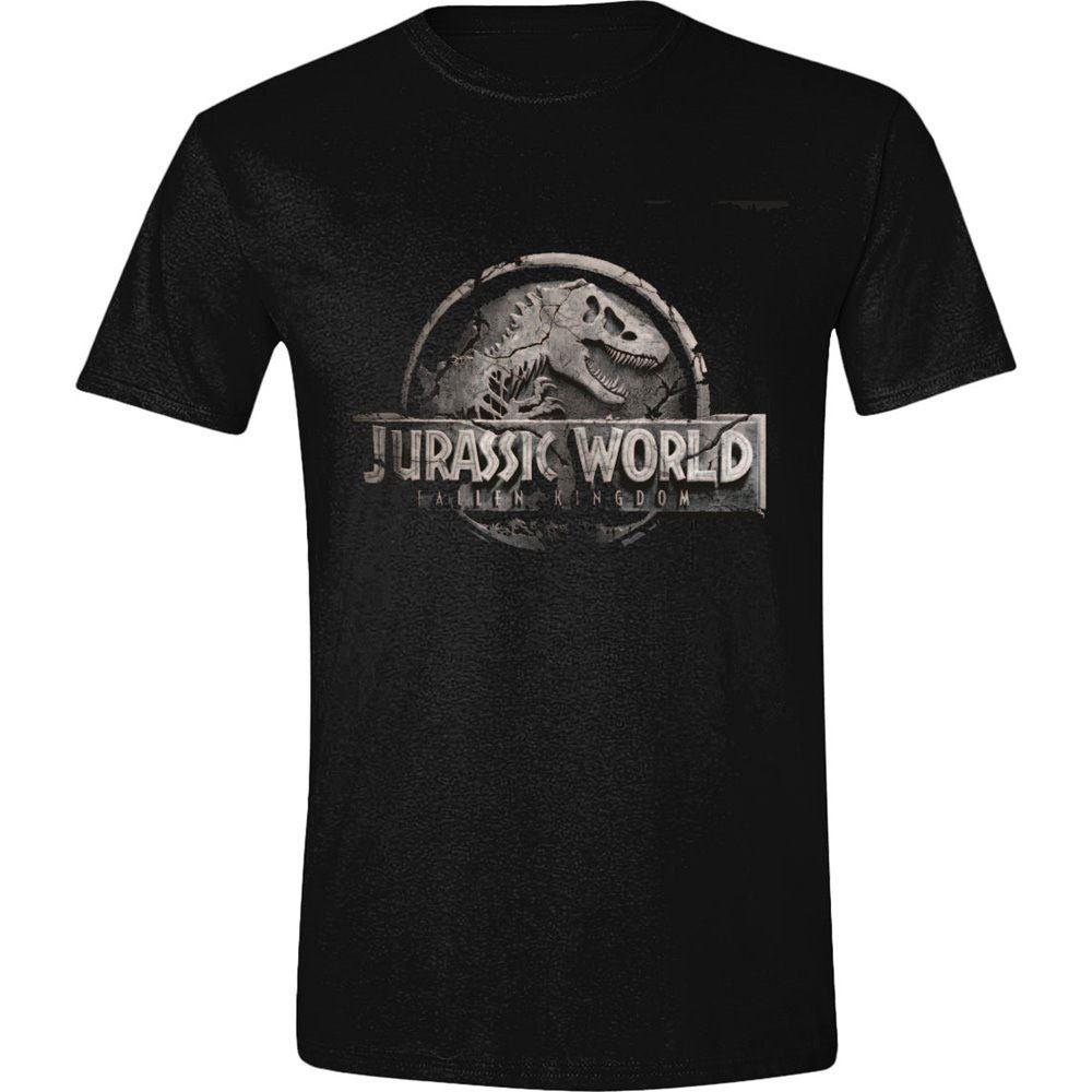 Jurassic World T-Shirt Damaged Logo  Size S