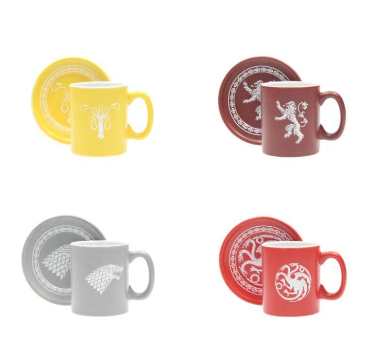 Game of Thrones Espresso Mugs Set Logos Collector's Edition