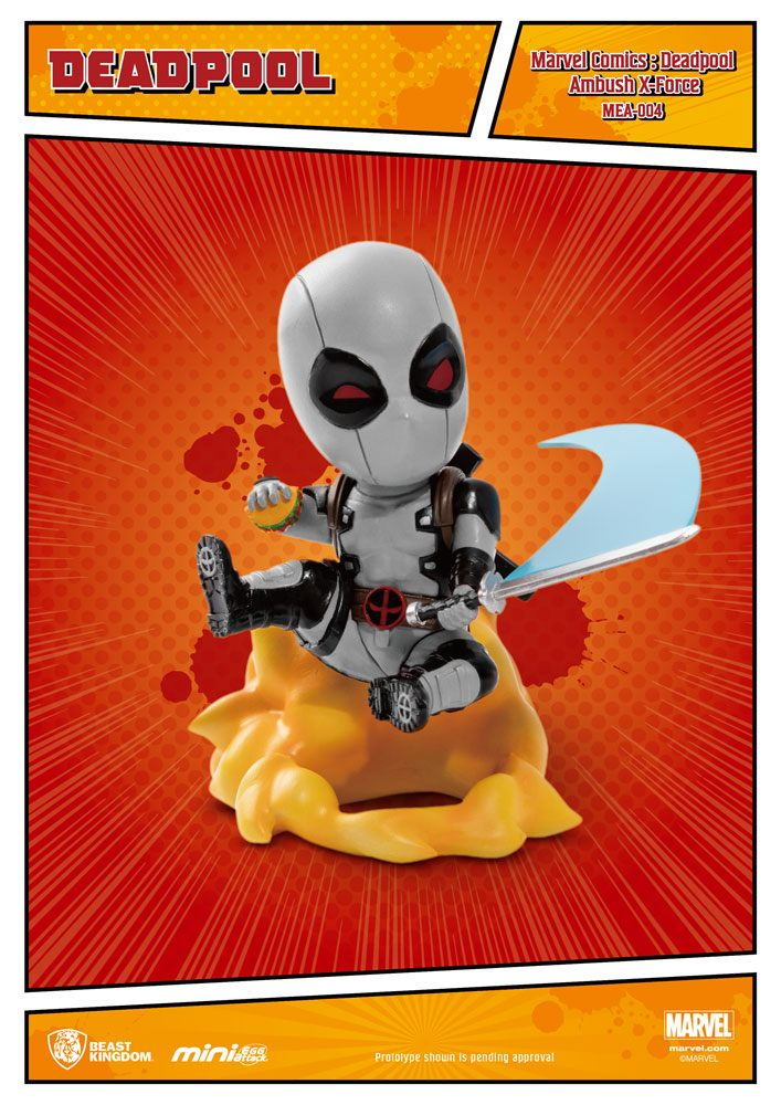 Marvel Comics Mini Egg Attack Figure Deadpool Ambush X-Force Version SDCC Exclusive 9 cm