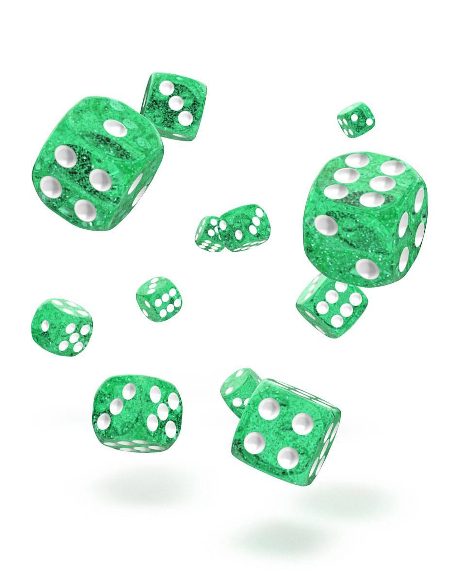 Oakie Doakie Dice D6 Dice 12 mm Speckled - Green (36)