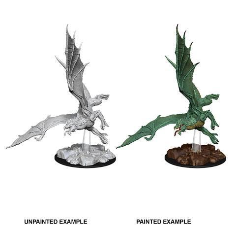 D&D Nolzur's Marvelous Miniatures Unpainted Miniature Young Green Dragon Case (6)