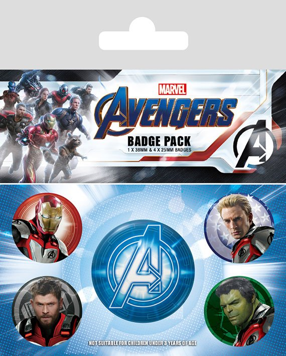 Avengers: Endgame Pin Badges 5-Pack Quantum Realm Suits