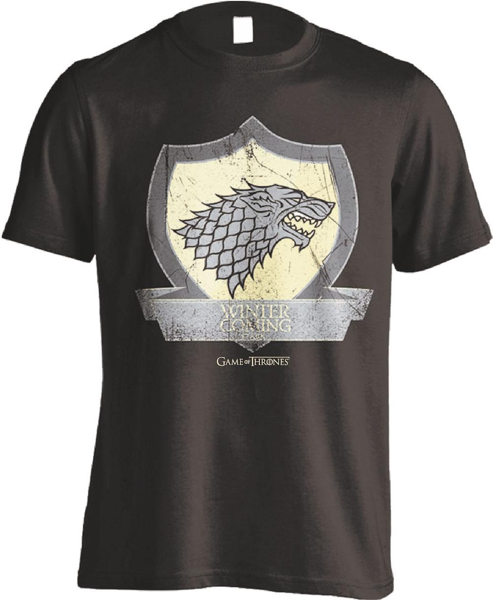 Game of Thrones T-Shirt Stark Coat Of Arms Size L