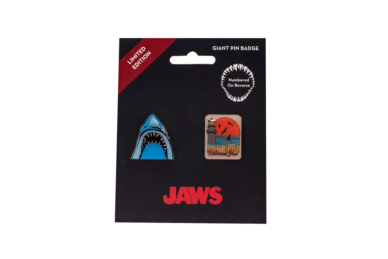 Jaws Pin Badge 2-Pack 3 cm