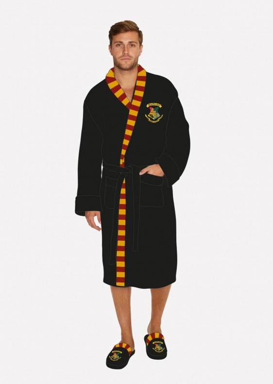 Harry Potter Fleece Bathrobe Hogwarts