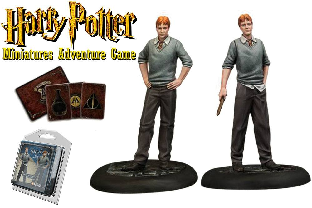 Harry Potter Miniatures 35 mm 2-pack Fred & George Weasley *English Version*