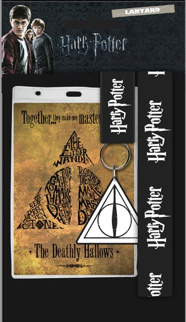 Harry Potter Lanyard with Rubber Keychain Deathly Hallows