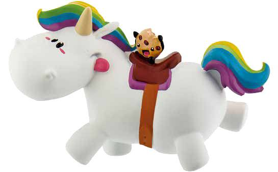 Chubby Unicorn Figure Chubby riding 6 cm