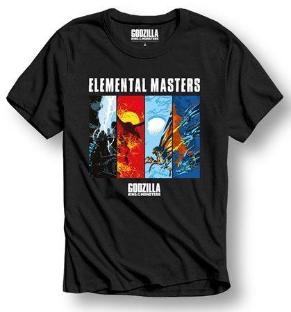 Godzilla T-Shirt Elemental Masters Size S
