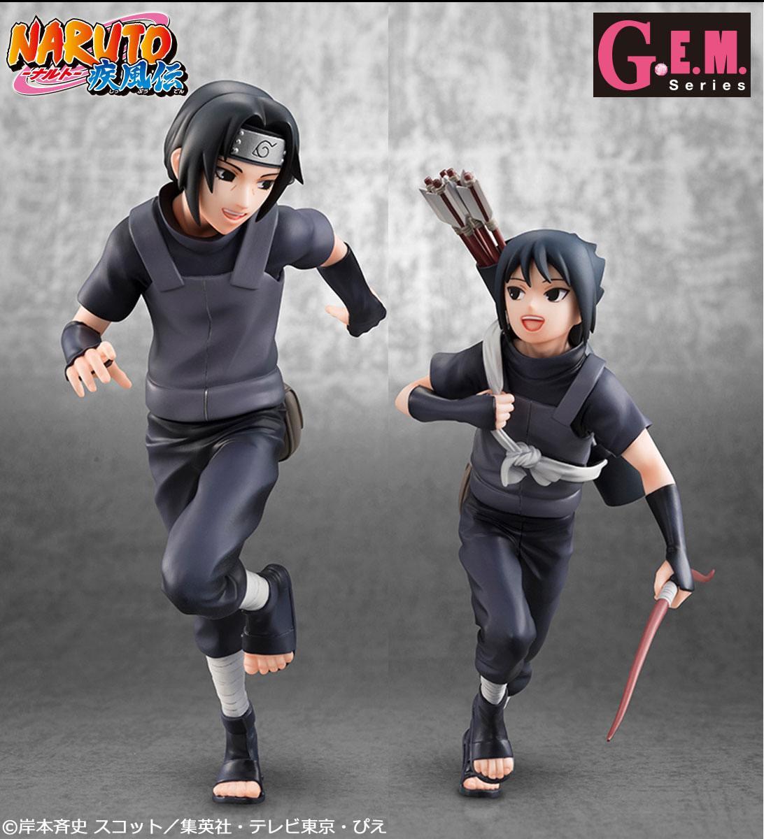 Naruto Shippuden G.E.M. Series PVC Statues Uchiha Itachi & Sasuke 16 - 18 cm