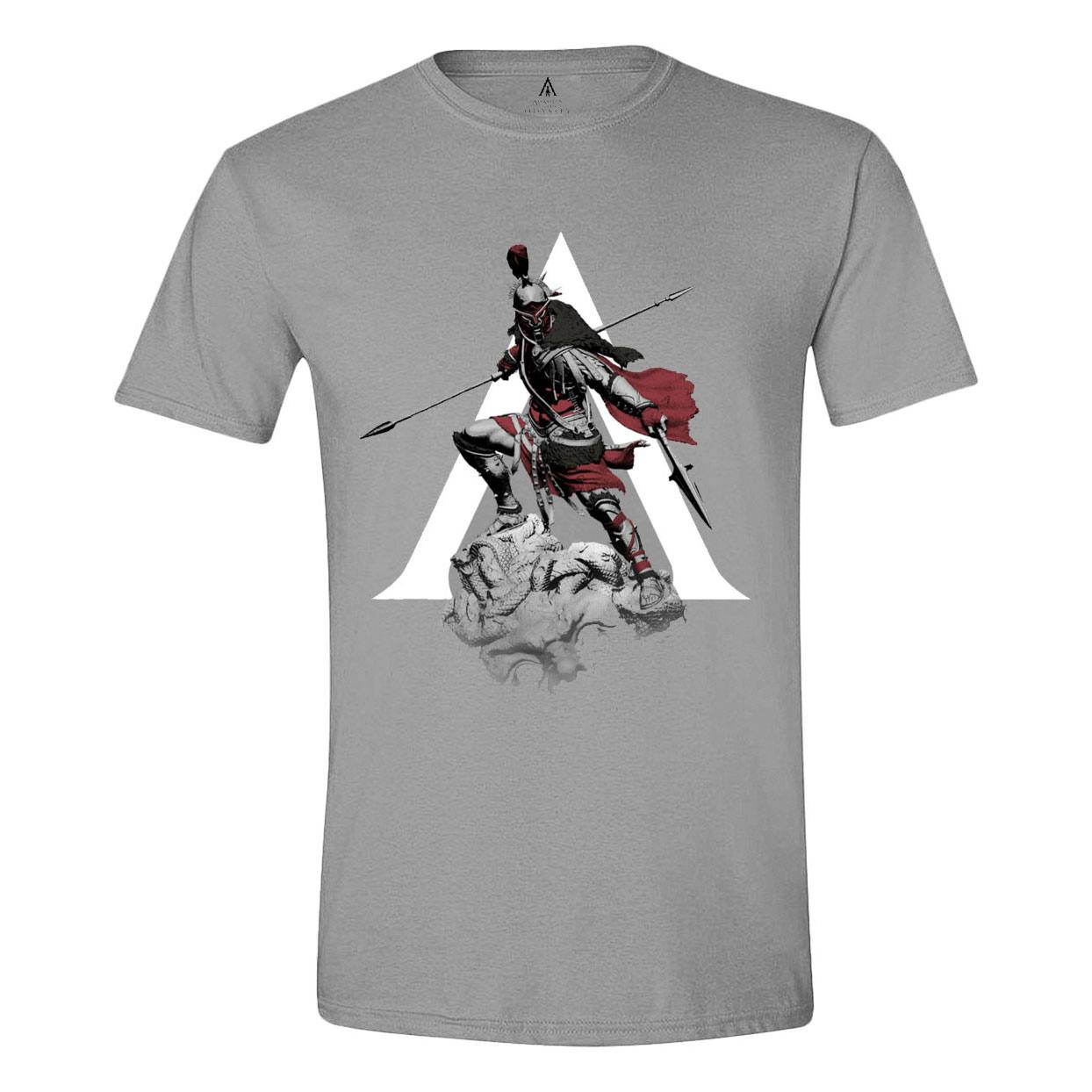 Assassin's Creed Odyssey T-Shirt Character Charge Grey Size M