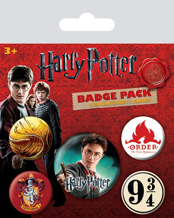 Harry Potter Pin Badges 5-Pack Gryffindor