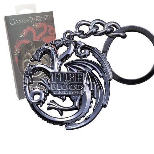 Game of Thrones Metal Keychain Targaryen Sigil