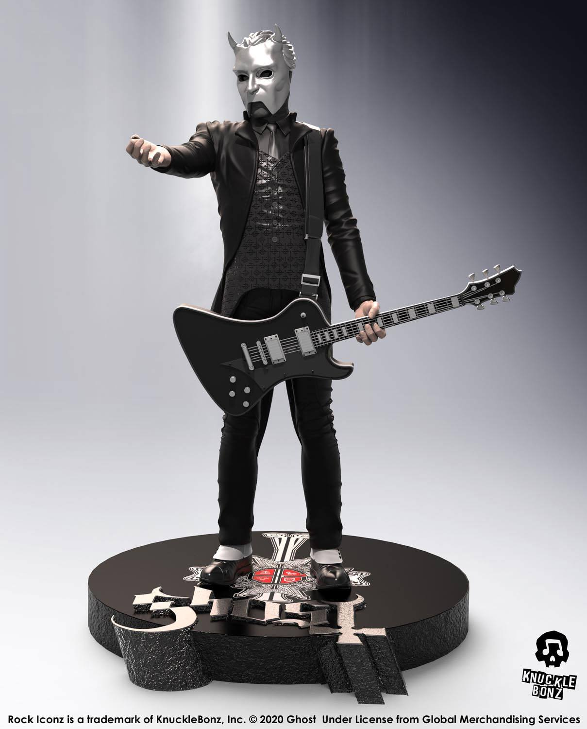 Ghost Rock Iconz Statue Nameless Ghoul (Black Guitar) Limited Edition 22 cm