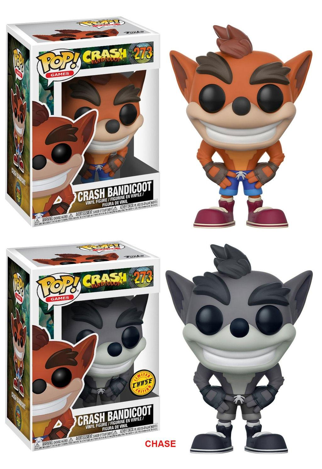 Crash Bandicoot POP! Games Vinyl Figures Crash Bandicoot 9 cm Assortment (6)
