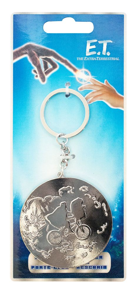 E.T. the Extra-Terrestrial Metal Keychain Moon