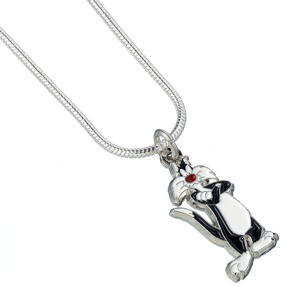 Looney Tunes Pendant & Necklace Sylvester (silver plated)
