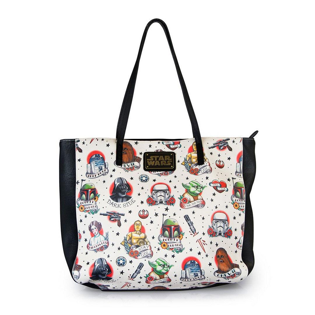 Star Wars by Loungefly Tote Bag Tattoo Flash Print