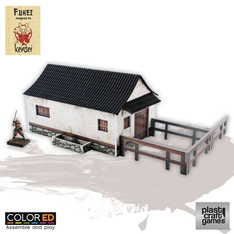 Kensei ColorED Miniature Gaming Model Kit 28 mm Horse Stable