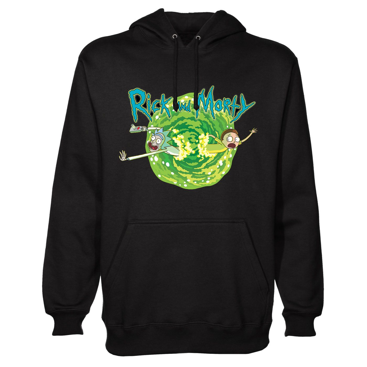 Rick and Morty Hooded Sweater Black Portal  Size S
