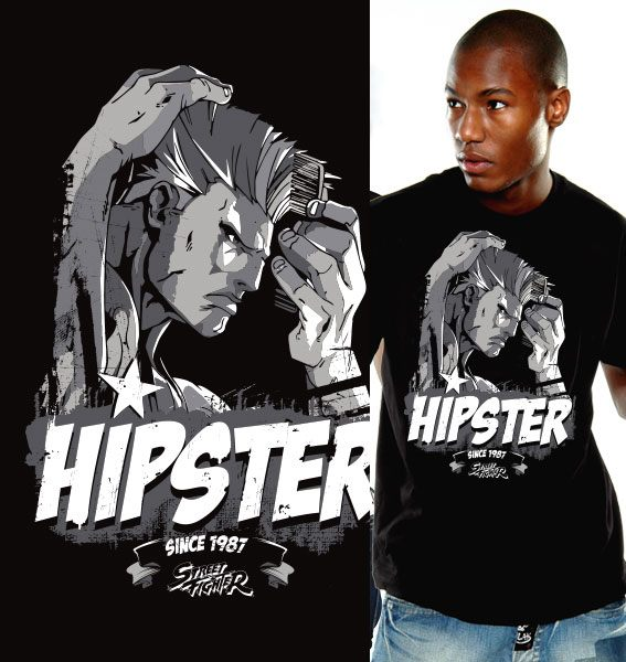 Street Fighter T-Shirt Hipster Size L