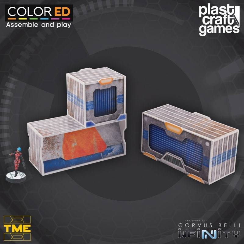 Infinity ColorED Miniature Gaming Model Kit 28 mm TME Container Set