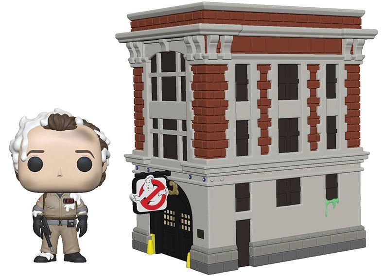 Ghostbusters POP! Town Vinyl Figure Dr. Peter Venkman & House 9 cm