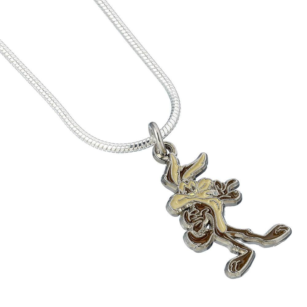 Looney Tunes Pendant & Necklace Wile E. Coyote (silver plated)