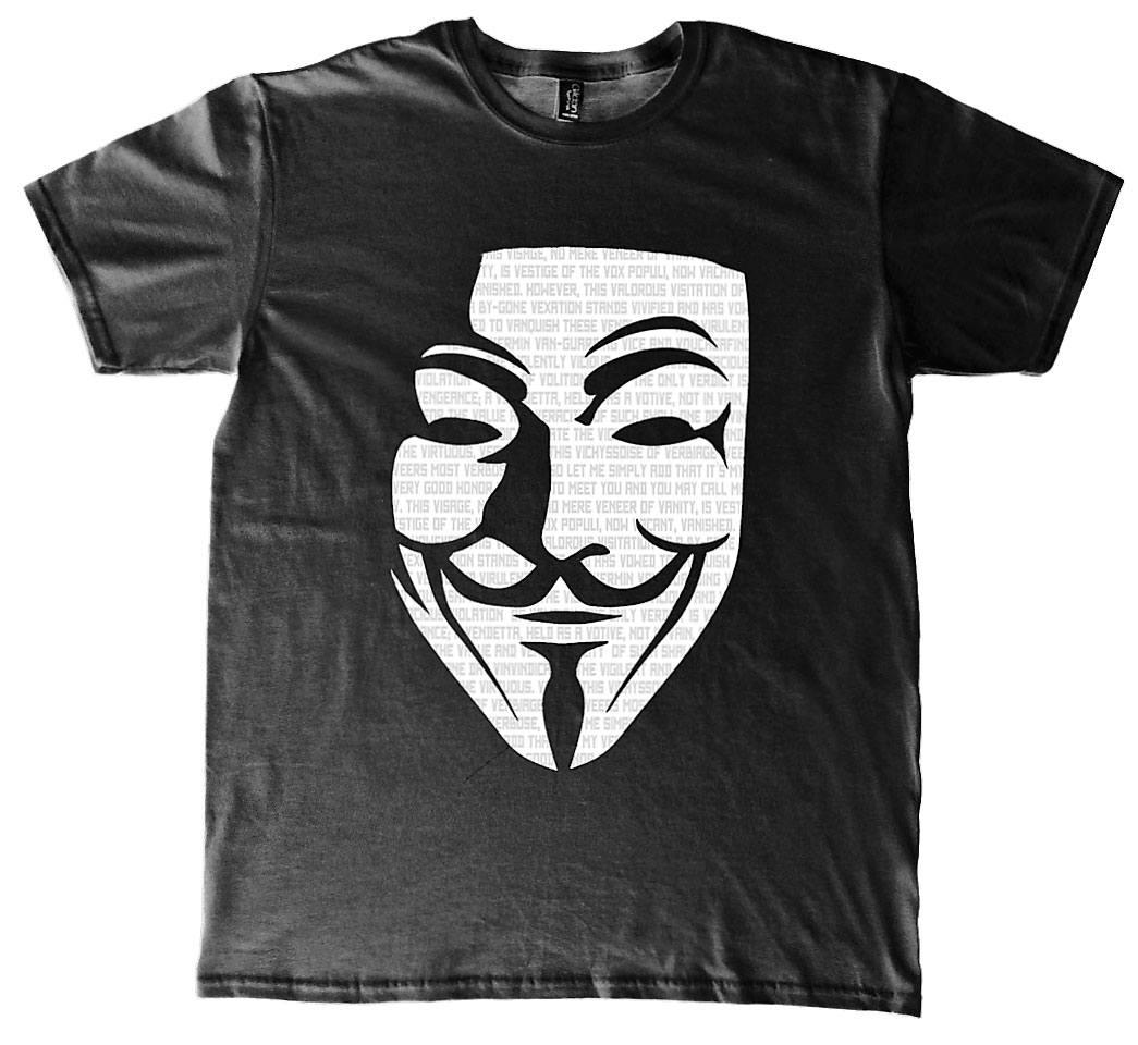 V for Vendetta T-Shirt Mask Size XL
