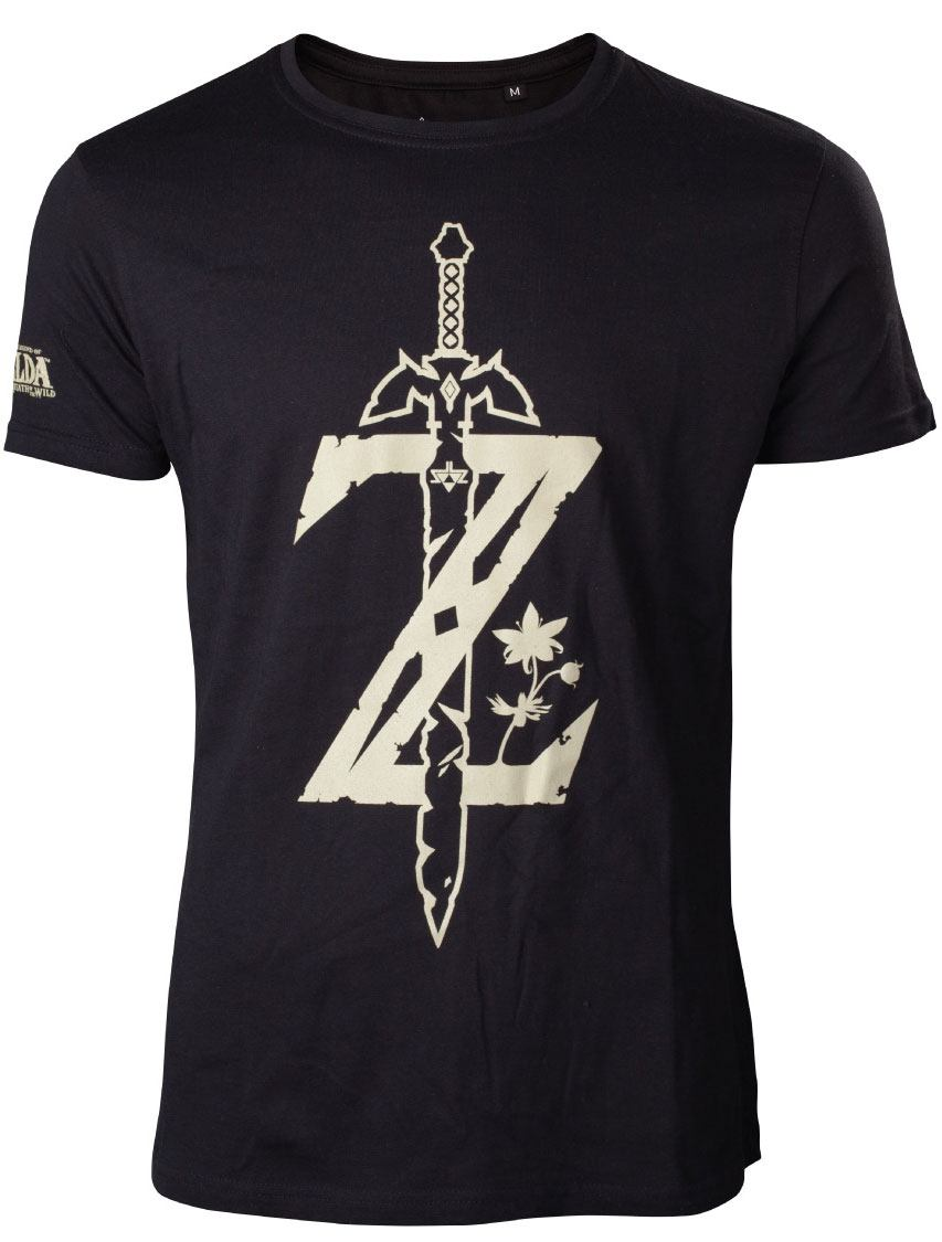 The Legend of Zelda Breath of the Wild T-Shirt Z Sword Size M